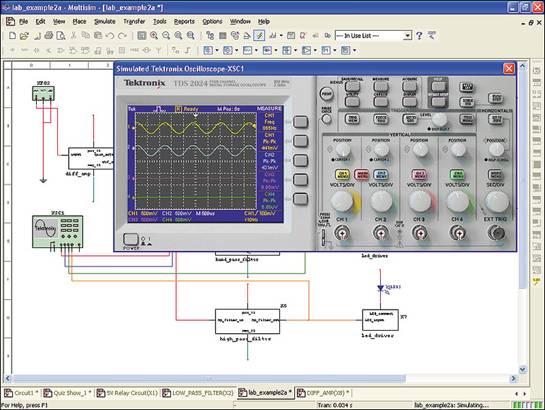 применение программы electronics workbench